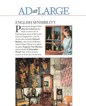Architectural Digest article Nov 2000